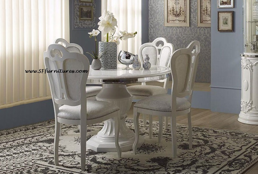 Greta Italian Dining Table Set Ref 1147 Extendable With 4 Chairs