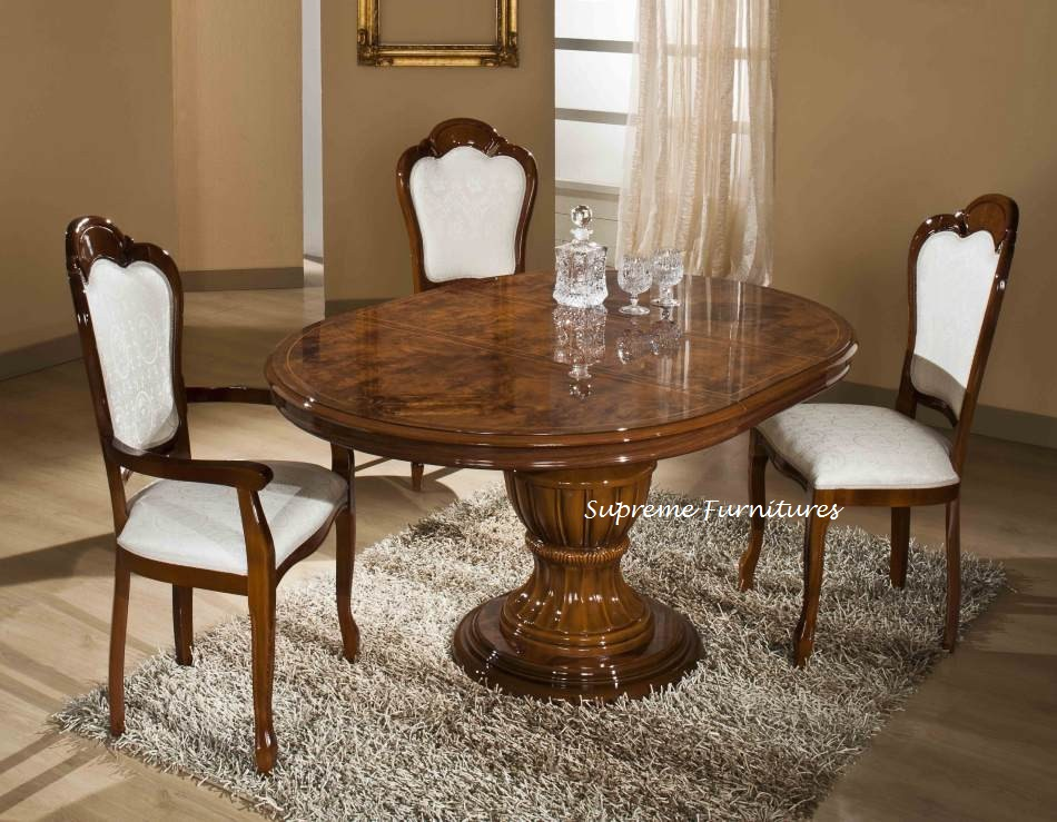 Elizabeth Italian Dining Table And Chairs Ref 1136 Extendable With 4